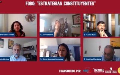 Organizaciones sociales analizan estrategias constitucionales de cara al plebiscito del domingo