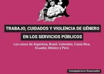 Trabajo, Cuidados y Violencia de Género en los Servicios Públicos